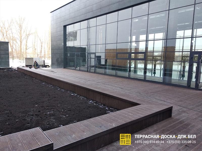 Монтаж террасной доски Аква-Минск, ФОК Серебрянка