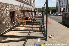 Монтаж террасной доски в кафе Грай