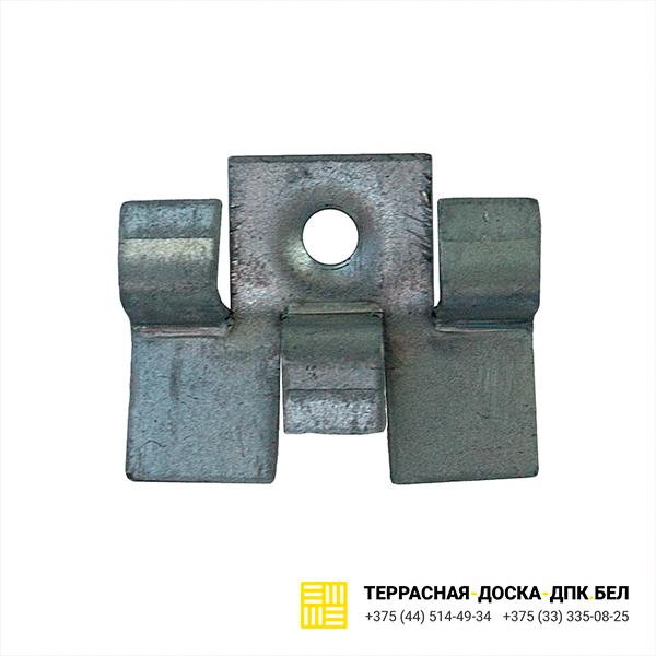 Кляймер для террасной доски из ДПК металлический