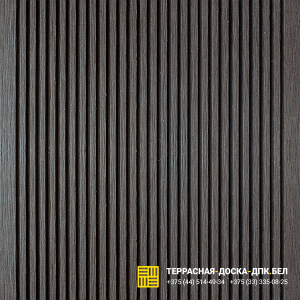 Террасная доска ДПК Outdoor (Аутдор) вельвет темно-коричневый