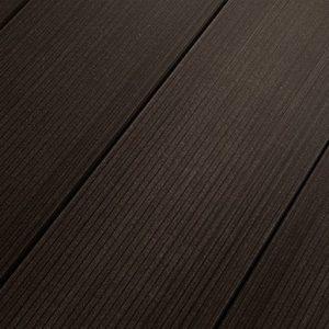 Террасная доска из ДПК Salix (Сэликс) темно-коричневый