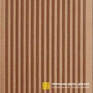 Террасная доска ДПК Deckron шовная коричневый