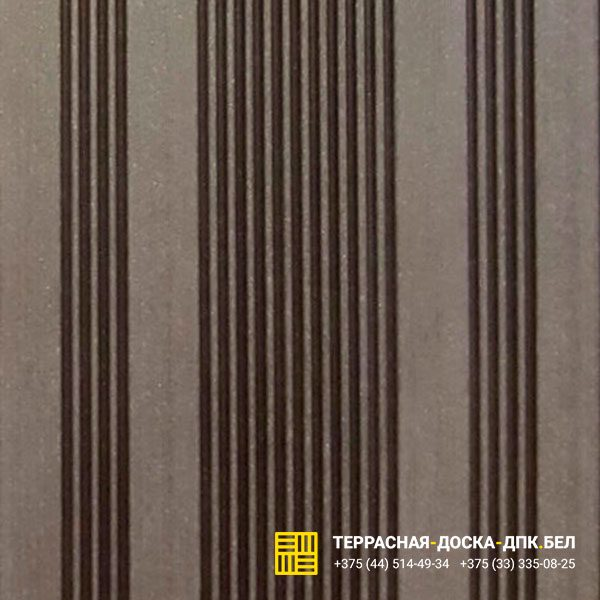 Террасная доска ДПК шовная Ecodeck Венге