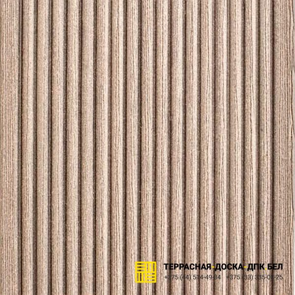 Террасная доска ДПК Dortmax Barocco серый