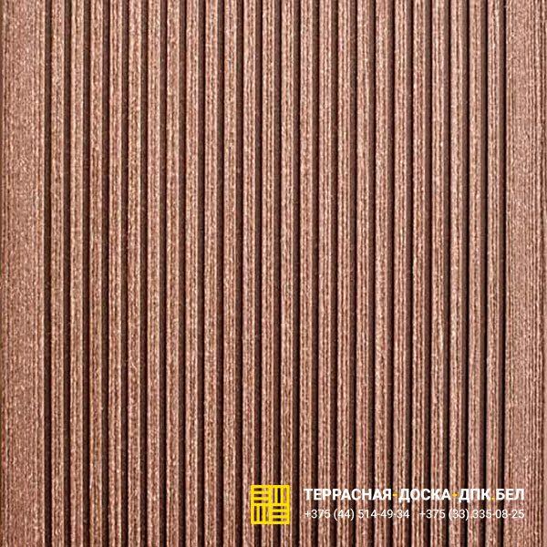 Террасная доска ДПК Dortmax Velvet Classic коричневый