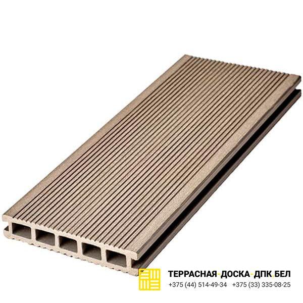 Террасная доска ДПК Dortmax Velvet Classic серый