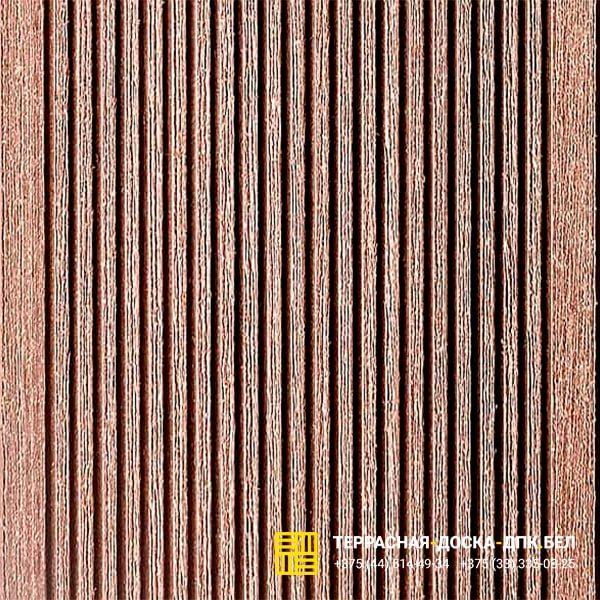 Террасная доска ДПК Dortmax Velvet Standart коричневый