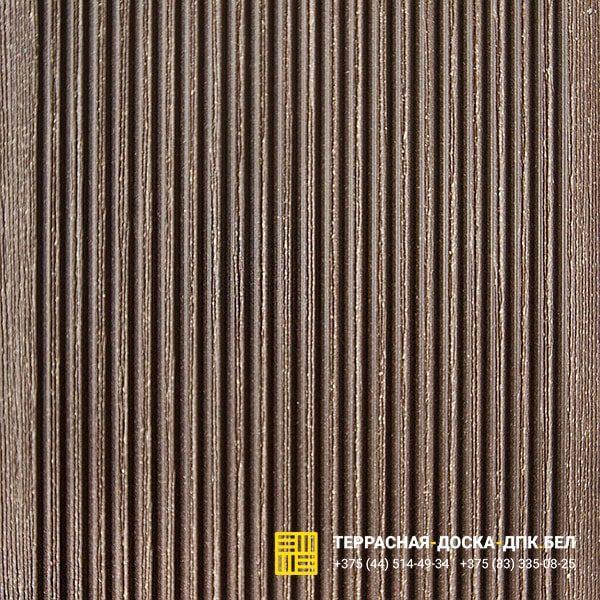 Террасная доска ДПК Терропласт под дерево коричневый
