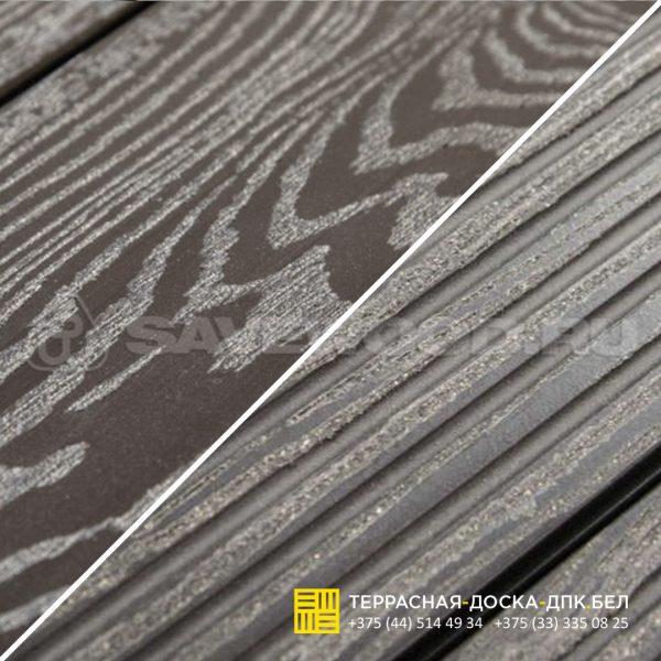 Террасная доска ДПК с тиснением Savewood Ornus Темно-коричневый-2