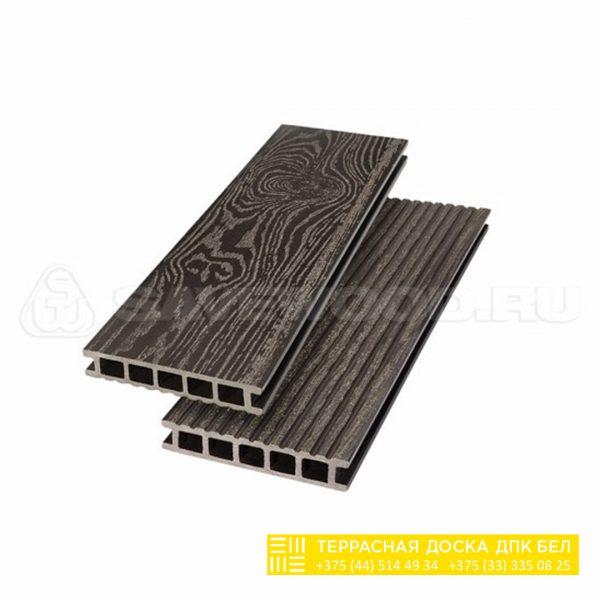 Террасная доска ДПК с тиснением Savewood Темно-коричневый